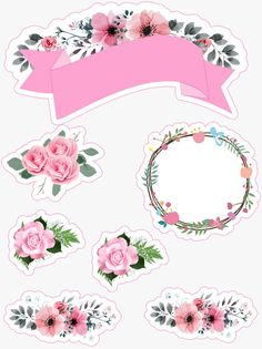 Diy Stickers, Scrapbook Stickers, Planner Stickers, Scrapbook Paper, Bolo Super Man, Pop Up Frame, Ribbon Png, Cupcake Toppers Free, Label Shapes