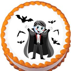 Child Vampire Halloween Edible Cake Topper | My Party Helpers | http://mypartyhelpers.com/products/child-vampire-halloween-edible-cake-topper