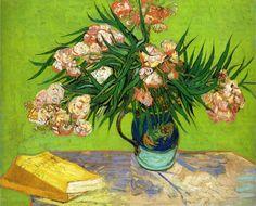 thebestofvangogh:  Vincent van Gogh - Oleanders and Books