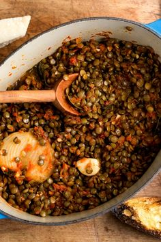 Even people who swear they don't abide beans find pleasure in the distinctive, profound flavor of lentils. They cook quickly, so for stews and soups, 40 to 45 minutes will suffice Lentils never need to be soaked and for those of you who are sensitive to beans, you will be happy to hear that they don't contain sulfur, the gas-creating compound present in most beans. (Photo: Andrew Scrivani for NYT)