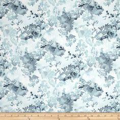 Enchanted Pines Fabric Robert Kaufman YARD Double Border Gray to Indigo Blue