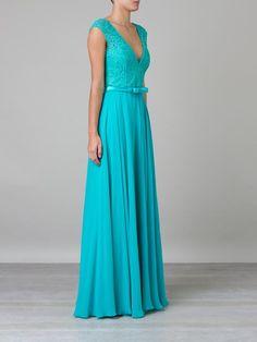 Martha Medeiros Vestido Longo Verde - Martha Medeiros - Farfetch.com