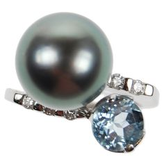 Pearl and Semi Precious Stone Ring from Coleman Douglas Pearls