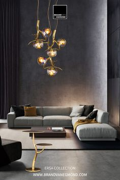 The most elegant expression of your personality: Discover our handmade lighting sculptures designed by William Brand to bring character into homes. Visit our website at brandvanegmond.com or get in touch with our sales team through info@brandvanegmond.com. Living Room Lighting Design, Chandelier In Living Room, Living Room Photos, Beautiful Living Rooms, Luxury Interior Design, Room Lights, Living Room Modern, Small Living, Villa