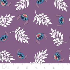 Disney Lilo & Stitch Palm Leaves in Wildberry Purple Premium 100% Cotton fabric  Width: 43~44  Note: Multiple yardages will come in one piece. The color in the picture might be slightly different from the actual color. If you are interested in buying at least 20 yards or one (1) roll of one fabric, we are glad to offer special bulk pricing.  Care Instructions: Machine Wash Cold Normal Cycle with Like Colors. Use only non-chlorine bleach when needed; Tumble Dry Medium, Use Warm Iron.  Keep...