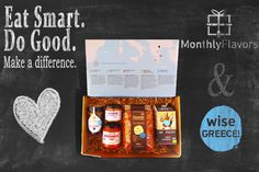 Discover new Greek food products in one box Eat Smart, Greek Recipes, Recipe Box, Organizations, Greece, Children, How To Make, Gifts, Food