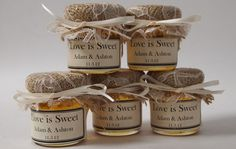100 4 oz Jar Wedding Favors filled with honey by CustomLoveGifts, $380.00