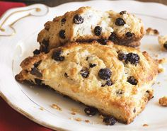 Meyer Lemon and Dried Blueberry Scones
