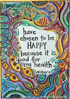 Happiness is a choice-and a healthy one at that!