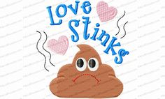 Love Stinks Toilet Paper Filled Embroidery Design is optimized to stitch well on toilet paper. For a gag gift add a little plastic wrap or tulle and a bow.