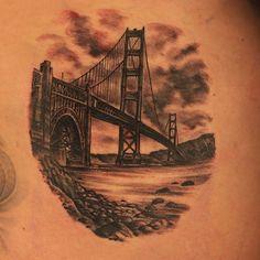 Beautiful tattoo by joey Hamilton done on ink master season 3 -brilliant artist Badass Tattoos, Great Tattoos, Beautiful Tattoos, Awesome Tattoos, Ink Master Tattoos, Hamilton Tattoos, San Francisco Tattoo, Puente Golden Gate, Tattoo Nightmares