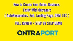 How to Start Your Online Business Easily With Ontraport - FULL REVIEW + DEMO GET Ontraport Here ►►► http://buythiz.com/ontraport 00:38 : Ontraport Dashboard ...