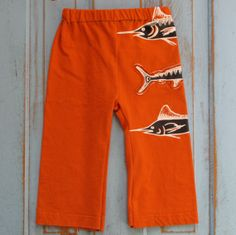 fishies upcycled / recycled shorTEEs kungfu pants by shortees #Sew #Refashion #RefashionforBoys inspiration for boys clothes