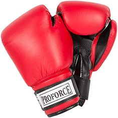 Amazon.com : Pro Force Leatherette Boxing Gloves with White Palm Wkf Karate, Boxing Workout With Bag, Bo Staff, Red Palm, Gym Workouts Women, Kickboxing Workout, Boxing Training, Boxing Gloves, Taekwondo
