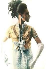 1963 Christian Dior couture designed by Yves Saint Laurent Vintage Vogue, Moda Vintage, Vintage Glamour, Vintage Ysl, Vintage Outfits, Robes Vintage, Vintage Dresses, Yves Saint Laurent, Two Piece Evening Dresses