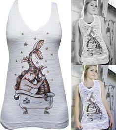 NEW - Bath -Susana Alonso girls burnout v neck tank dress/tunic by Black Market Art Company #bmac #punk #ayp