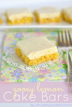 Gooey Lemon Cake Bars