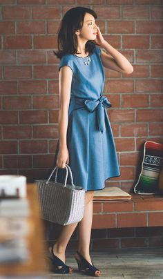 おしゃれな切り替えワンピにドキッ♡宮田聡子のちょい大人な4コーデ | with 2015年7月号 | iQON(アイコン)