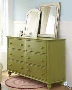 Lime, #colortrend, Furniture, Dresser, Drawers, Garnet Hill, Mail Order