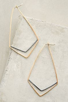 Chevron Hoops #anthropologie