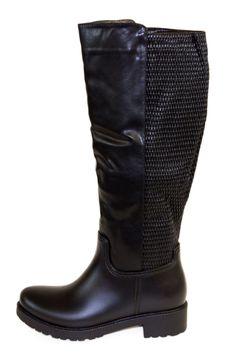 Black Rubber Rain Boots