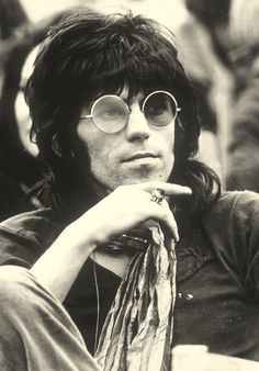 Keith Richards at the Isle of Wight Festival, August 1969