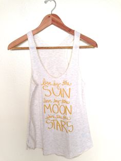 Shine Like the Stars. Yoga Racerback Tank Top with Gold Ink. MADE TO ORDER by neenacreates on Etsy (null)