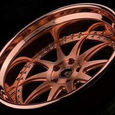 Avant Garde Wheels new take on one of our copper finishes. Brushed Copper Plated center and Copper Plated lip. the penny multi spoke 10 Rims For Cars, Rims And Tires, Wheels And Tires, Car Wheels, Chrome Wheels, Wrx Mods, Porsche, Import Cars, Custom Wheels