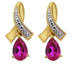 Buy Gold Plated Sterling Silver Created Ruby Pendant/Earrings at Argos.co.uk – Your Online Shop for Ladies' jewellery sets, Ladies' jewellery, Jewellery and …