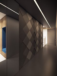 dramatic interior architecture meets elegant decor in krakow hallway designswall - Architectural Wall Design