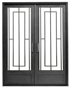 Grill Gate Design, House Gate Design, Window Grill Design, Iron Front Door, Glass Front Door, Iron Doors, Door Glass Inserts, Window Bars, Aluminium Doors