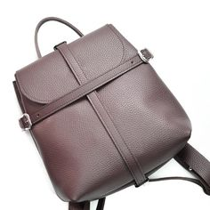 Wine leather backpack - Symbol