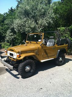 A 78 Toyota Cruiser with half doors. Nice and classic-a subtle way to distinguish one's self from the herd of Jeep owners.