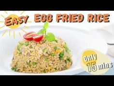 Egg fried rice is simple and tastier, that anyone can make at home. This egg fried rice recipe is less oily and more healthy than take-out. Fried Rice Recipe Chinese, Veggie Stir Fry, Meals For Two, Serving Platters, Rice Recipes, Make It Simple, Super Easy, Meal Prep, Fries