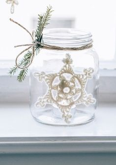 Stjerner Christmas Projects, Christmas Diy, Holiday, Christmas Knitting, Christmas Inspiration, Mason Jars, My Design, Table Decorations, Creativity