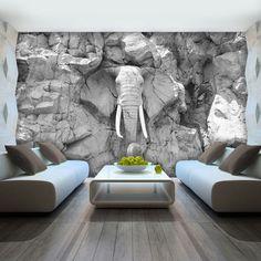 AuBergewohnlich Details Zu VLIES FOTOTAPETE TAPETE FOTO BILD Elefant Grau Wand Stein  Skulptur 10116 VE
