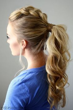 dutch-braid-mohawk-ponytail Learn How To Grow Luscious Long Sexy Hair @ Mohawk Hairstyles For Women, Dance Hairstyles, Ponytail Hairstyles, Pretty Hairstyles, Hairstyle Ideas, Latest Hairstyles, Amazing Hairstyles, Hairstyles For Going Out, Hairstyles Haircuts