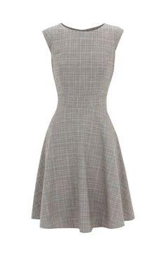 Warehouse Check full skirt dress