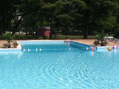 It's almost time to take a dip!!! We're getting the pool ready for you!