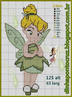 tinkerbell cross stitch patterns - - Yahoo Image Search Results