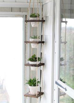 Porte-plantes à faire soi-même – 12 sellettes et suspensions pour pots en bois et métal