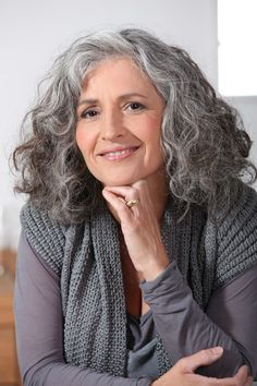 Stupendous Cool Tips: Women Hairstyles Over 50 Products middle aged women hairstyles fashion.Older Women Hairstyles Beauty Tips wedge hairstyles high heels.Women Hairstyles Over 50 Products. Curly Hair Styles, Grey Curly Hair, Long Gray Hair, Silver Grey Hair, Wavy Hair, Medium Hair Styles, Long Curly, Hair Medium, Thick Hair