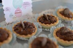 Mini tartes de chocolate