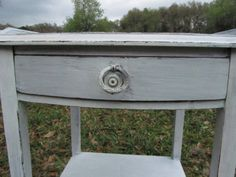 Shabby chic side table nightstand vintage by ShayesChicDecorNMore, $157.00