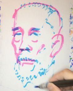 いいね!5件、コメント3件 ― @1mindrawのInstagramアカウント: 「#1mindraw #inukaitsuyoshi #犬養毅 #18550604 #birthday #誕生日 #portrait #筆ペン画」