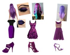 """Purple:)"" by cadencelebleu on Polyvore featuring Notte by Marchesa, Prada, Steve Madden and Michael Antonio"