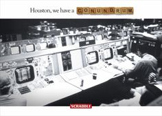 Scrabble print ad - Houston we have a conundrum Clever Advertising, Advertising Campaign, Advertising Design, Marketing And Advertising, Scrabble, Houston, Great Ads, Guerilla Marketing, Ads Creative
