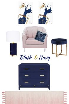 Practical and minimal dusty pink & navy blue home decor with a touch of gold for glamour and a mix of textures for comfort and tactile pleasure. I lov… – Living room Navy Blue And Grey Living Room, Blush Living Room, Glamour Living Room, Living Room Turquoise, Blue Living Room Decor, Navy Blue Living Room, Living Room Accessories, Blue Home Decor, Blue Rooms