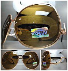 OVERSIZE VINTAGE 60s RETRO JACKY Style UPSIDE DOWN EFFECT SUN GLASSES Gold Frame #SPEXXEyewear #OversizeVintageRetroStyle
