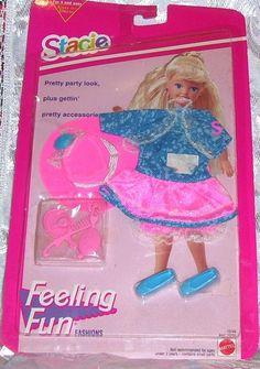 1993 MATTEL Barbie 1993 SISTER STACIE FEELING FUN PARTY TIME CLOTHES NIP #10747 #MATTEL